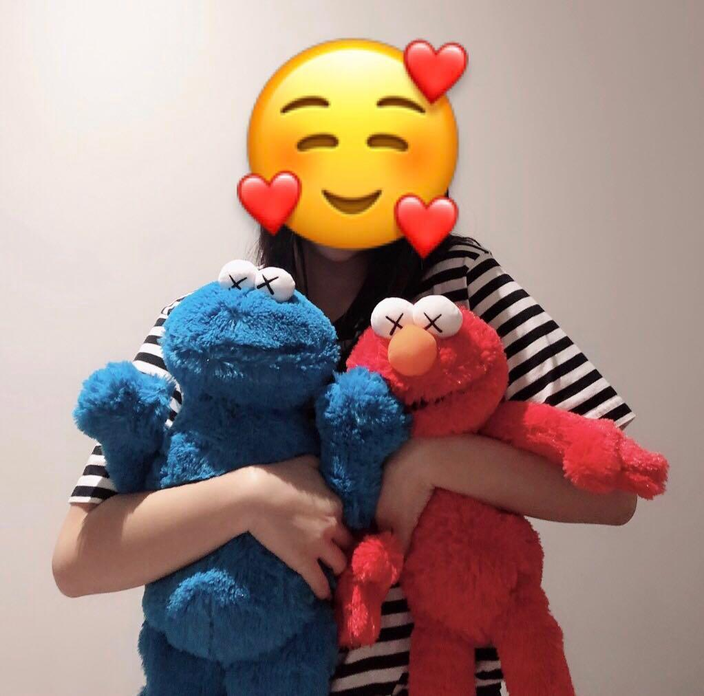 UT x KAWS x Sesame Street Elmo & Cookie Monster Plush