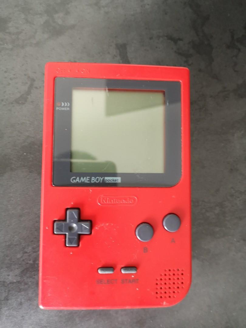 Vintage Nintendo Gameboy Pocket Flaming Red!