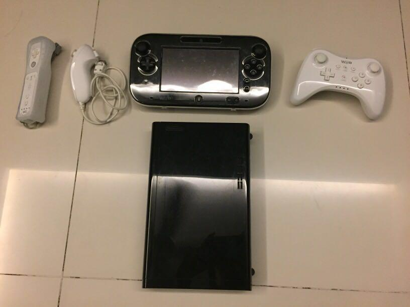 Wii U 32GB with accessories & games