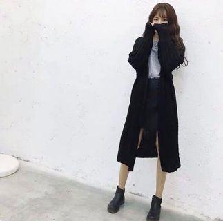 🚚 長版針織燈籠袖罩衫