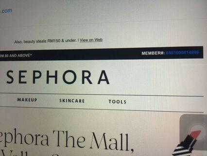 Sephora 20% offer
