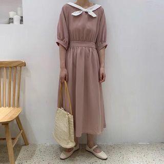 《洋裝 全新》小翻領兩面氣質洋裝
