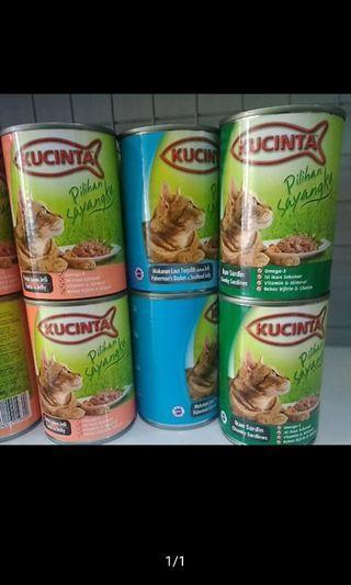 kUCINTA CAT WET FOOD / MAKANAN KUCING BASAH KALENG 400gr