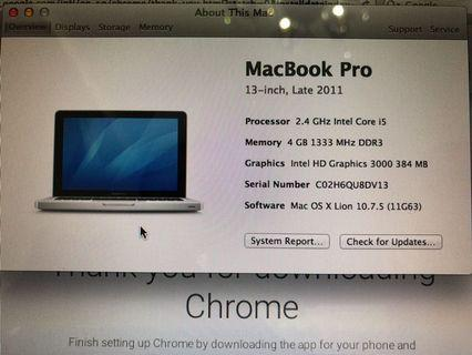 Macbook Pro 13inch Superb Good Condition