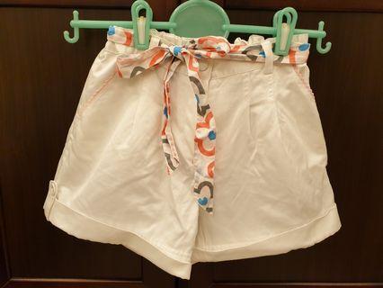 🚚 ELLE純白繫帶短褲裙(140cm)