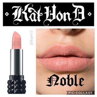 🚚 Kat Von D Studded Kiss Lipstick - Noble (used)