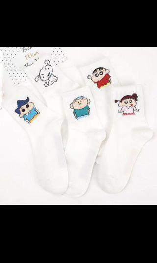 Sinchan Cartoon Socks Women size  Brand New