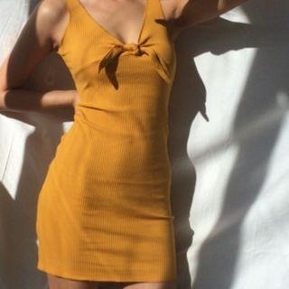 Classic AA Front Tie Knot Bodycon Dress