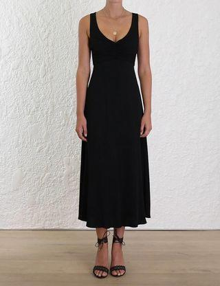 Zimmermann Rouche Scoop Dress - Black