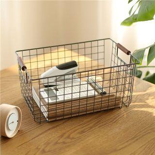 [Set of 2] Vintage Wire Basket Storage Organizer