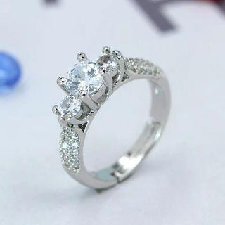 Women grand engagement Diamond Ring Adjustable free size