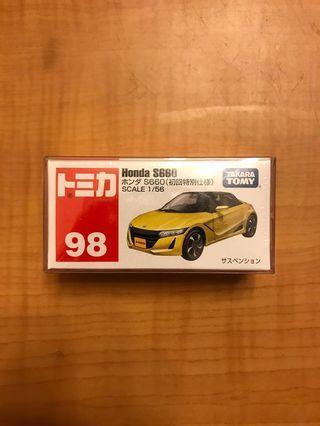 全新未開初回特別限定版 Tomy 98 Honda S660 本田黃色房車