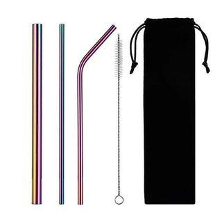 Stainless Straw Warna Set