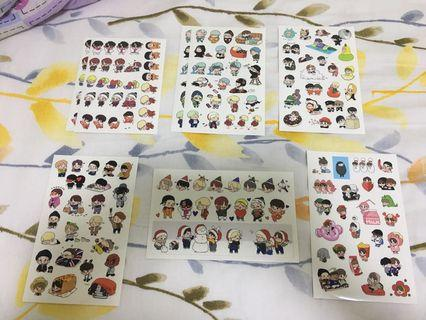 🚚 BTS Fanart Sticker Pack by Deokrim