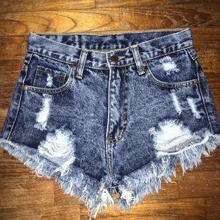 🚚 Wake Up acid wash denim shorts