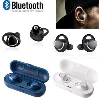Wireless Bluetooth Headset Sports Mini Invisible Mini Earbud Bluetooth Headset Black Technology Charger Headset SM-R150