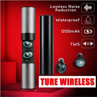 Bluetooth Earphones Wireless Earbuds TWS with MIC Stereo HIFI Music Support 1200mAh Charging Box Headset