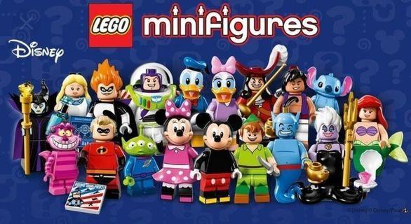 全新 一套18隻 Lego 71012 Disney Series 1 Minifigures 71040 71024