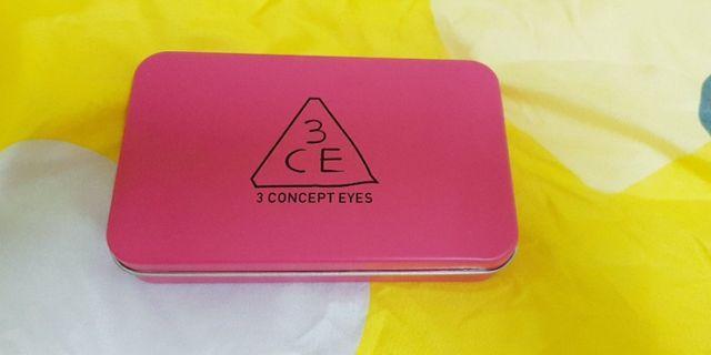 韓國3ce彩妝刷具七件組/粉色鐵盒