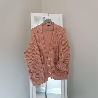blush pink chunky sweater