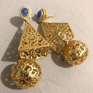 Gold Plated Hand Made Earring