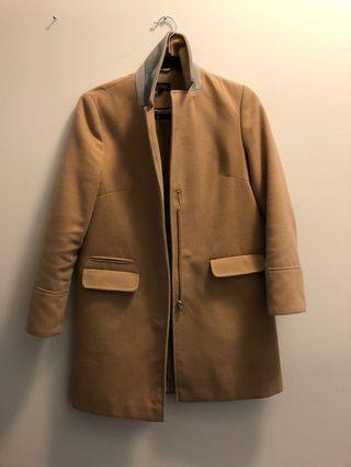 Camel pea coat top shop size 4