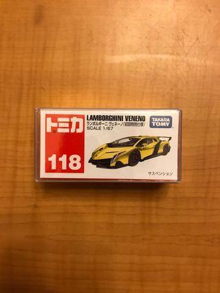 全新未開初回限定特別版 Tomy 118 Lamborghini Veneno 林寶堅尼黃色超級跑車