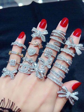 上新🎊🎊🎊T方鑽石戒指,全部現貨,歡迎大家選自己喜歡的款式,看中詢價