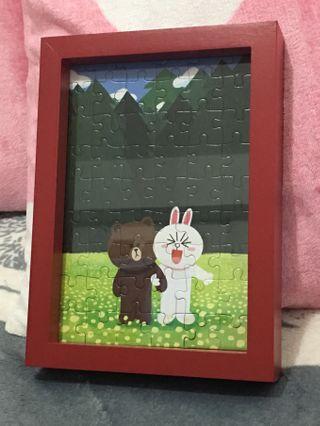 雷諾瓦拼圖-熊大 森林秘境 拼圖卡片+愛現框