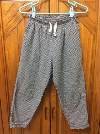 H-ZOO黑白格紋九分褲