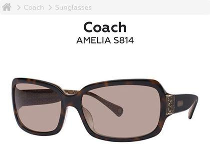 Coach 'Amelia' sunglasses - tortoise - polarized lenses