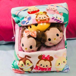 🚚 熱門 日式 娃娃零食包 娃娃零食袋  抱枕 角落生物小 迪士尼 娃娃袋 娃娃公仔 共6袋 (每袋內含3隻小玩偶)