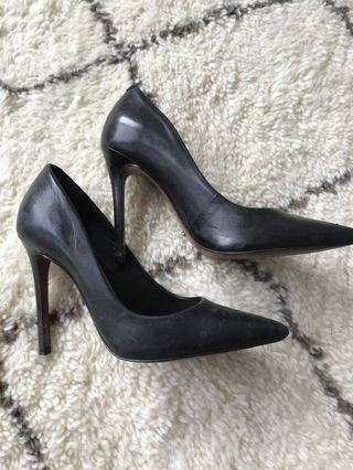 SCHUTZ Black Leather Pumps