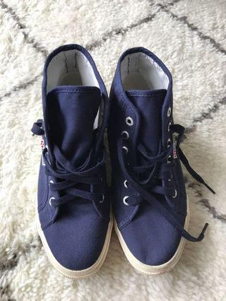 Superga Navy Hightops