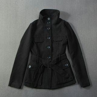 H&M風衣外套 (黑色)