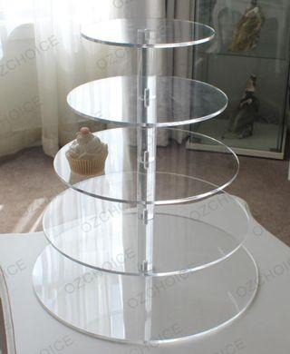 5 Tier Dessert Stand - clear acrylic
