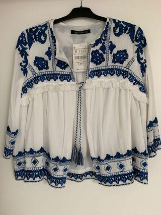 Zara Embroidered Top/ Boho blouse/Jacket
