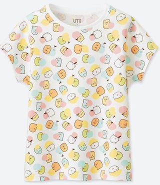 低價🔥UNIQLO 角落生物聯名居家兒童睡衣 純棉 上衣 短袖 T恤