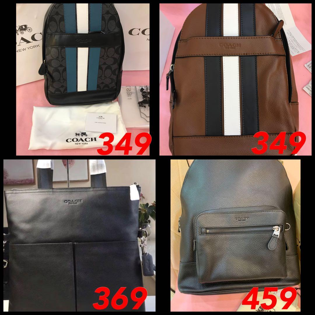 (05/05/19)Ready Stock Authentic men coach handbag totes satchel Tory Burch backpack traveller bag woc dinner clutch mk sling bag baby bag travel ysl wallet clutch iPad holder money clips wallet backpack belt clips clutch Belt money clips clutch 778756