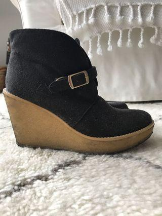 Stella McCartney Faux-Suede Wedge Bootie