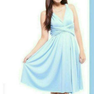 Brand New Convertible Baby Blue Dress
