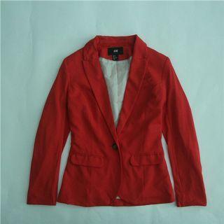 H&M外套(藍&玫紅色)