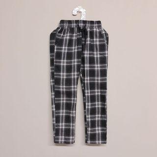 🚚 格紋窄管褲