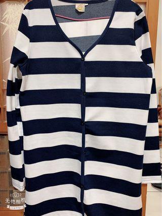 🚚 新款藍白長版-薄外套