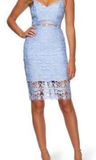 Kookai blue lace dress