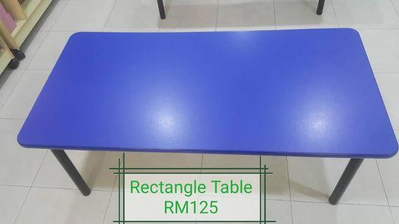 Rectangle Blue and Red kids table