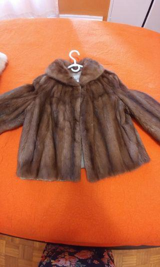 Real mink coat.