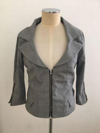 Events Houndstooth Blazer Size 8