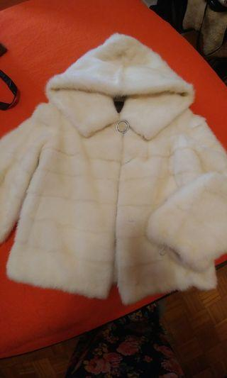 New real mink white coat.