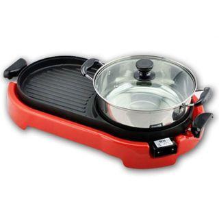 💥BEST ITEM💥2 IN 1 BBQ Korean Electronic Pan Grill & Steamboat & Teppanyaki